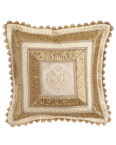 Kensington Garden Mitered Pillow, 20