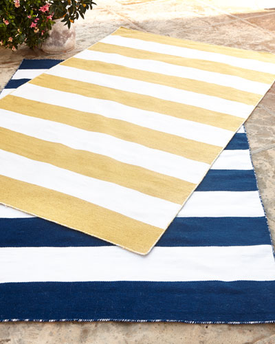 Rugby Stripe Indoor/Outdoor Rug, 7'6
