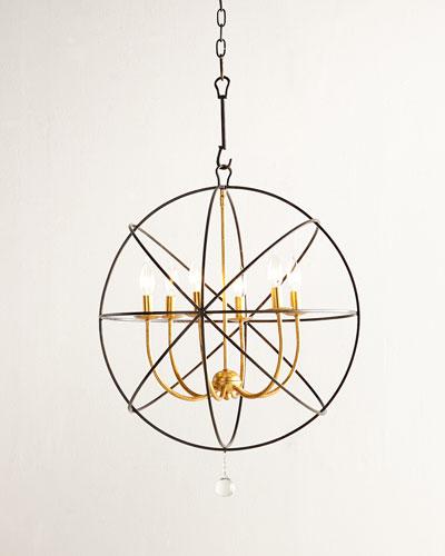 Gold Orbit 6-Light Chandelier
