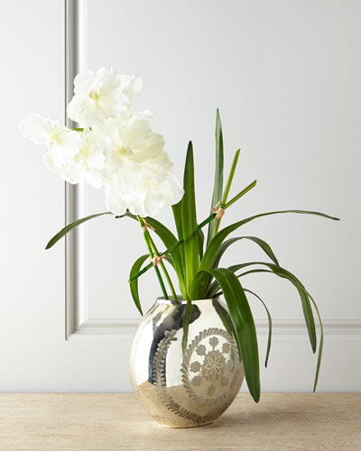 Vanda Reflections Faux Floral Arrangement