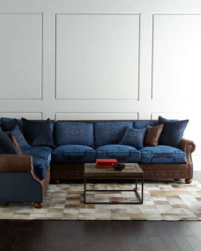 Blue Woodstock Sectional Sofa