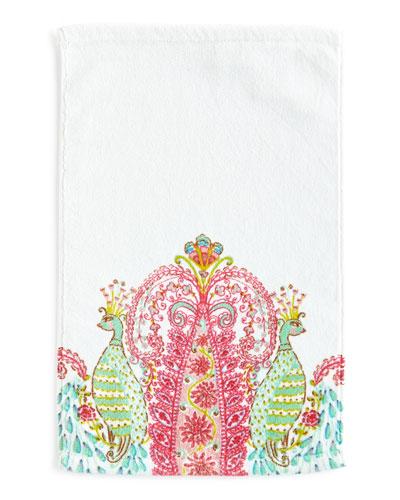 Peacock Face Cloth