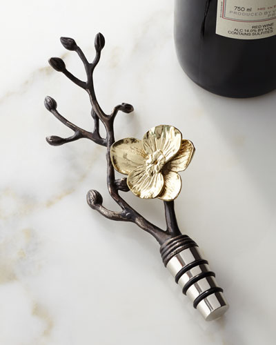 Gold Orchid Wine Stopper
