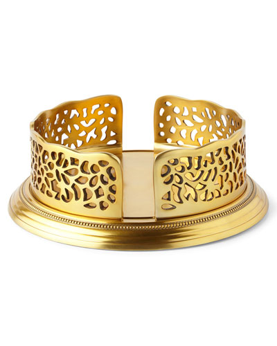 Gold-Tone Pierced Salad Plate Holder