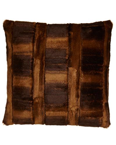 Faux-Beaver Pillow, 18