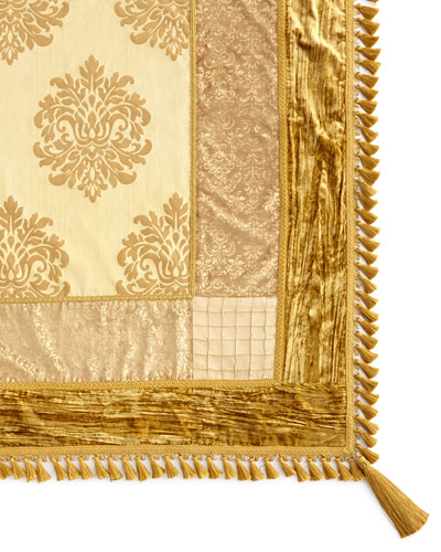 Golden Velvet Table Topper, 54