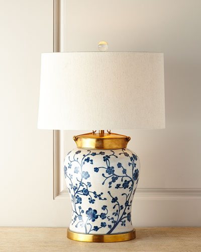 Blue Dogwood Table Lamp