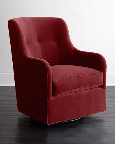 Quick Look. ProdSelect Checkbox. Cali St. Clair Red Velvet Swivel Chair