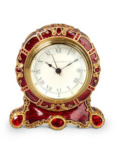 Bryce Crystal Scroll Clock