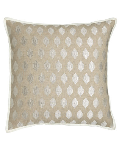 Square Pillow with Embroidery