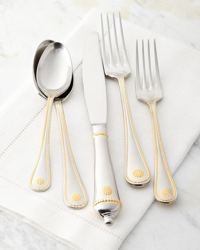 5-Piece Berry & Thread Gold-Accented Place Setting