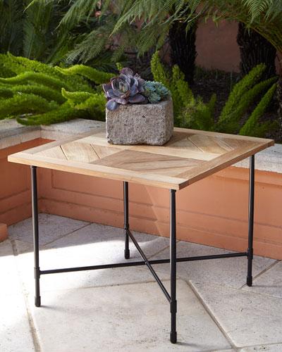 Handcrafted Teak Furniture Horchowcom - Teak outdoor end table