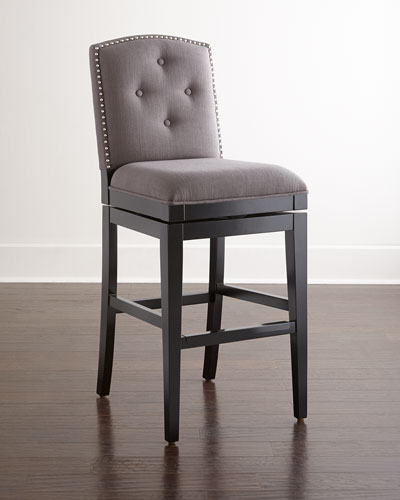 Pepperton Tufted Swivel Counter Stool