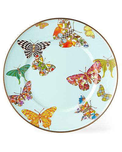 Butterfly Garden Sky Salad/Dessert Plate
