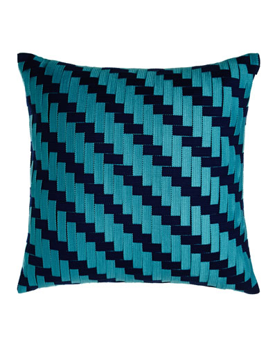 American Summer Basketweave Pillow
