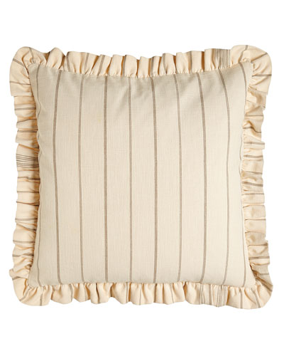 Meadow Wreath Striped European Sham