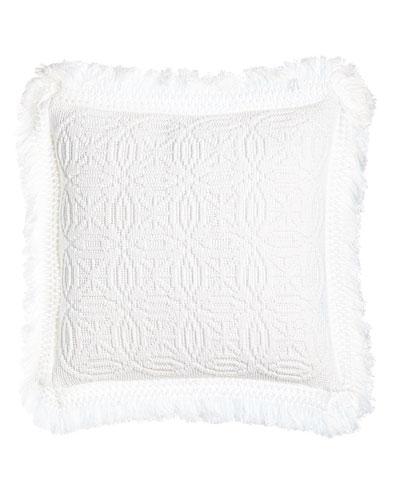 White Knit Anka Pillow, 20