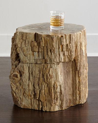 Bangor Petrified Wood Side Table