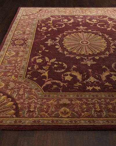 Burgundy Oaks Rug, 4' x 6'