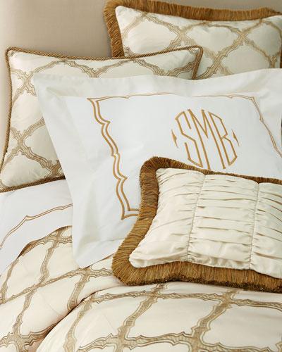 Standard Versailles Embroidered-Frame Sham