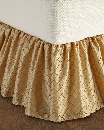 Queen Diamond-Stitch Dust Skirt