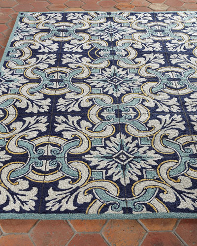 Paige Floral Tile Indoor/Outdoor Rug, 3'5