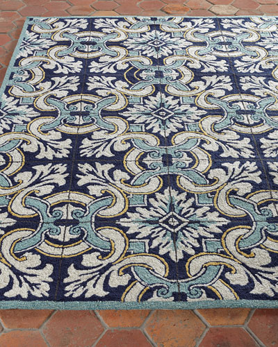 Paige Floral Tile Indoor/Outdoor Rug, 5' x 7'6