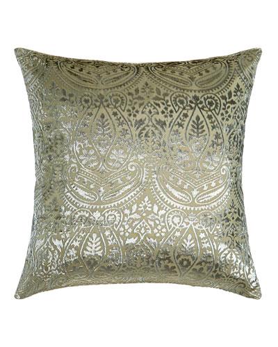 Grazia Burnout Velvet Pillow, 20