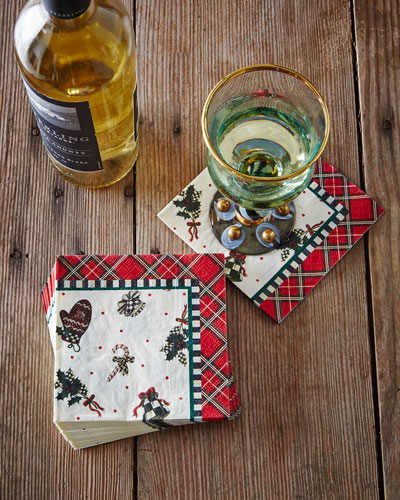 Courtly Noel Paper Cocktail Napkins