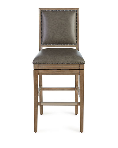 Collin Leather Swivel Counter Stool