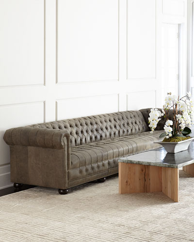 Quick Look. ProdSelect Checkbox. Wiley Chesterfield Leather Sofa