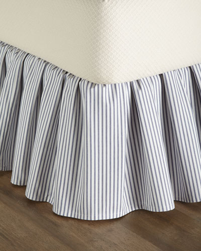 Queen Ticking-Stripe Dust Skirt