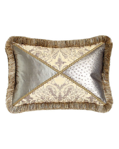 Everest Pieced Pillow with Fringe, 14