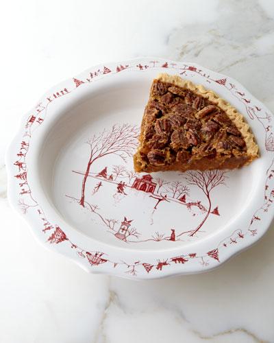 Country Estate Winter Frolic Pie Dish