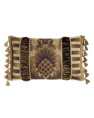 Pieced Gatsby Pillow with Medallion Center, 15