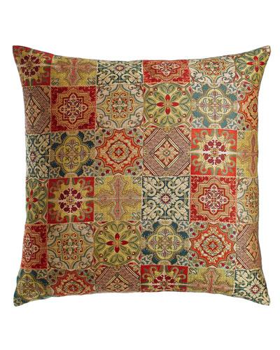 European Tegola Tile Patchwork Sham