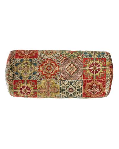 Tegola Tile Patchwork Bolster Pillow, 9