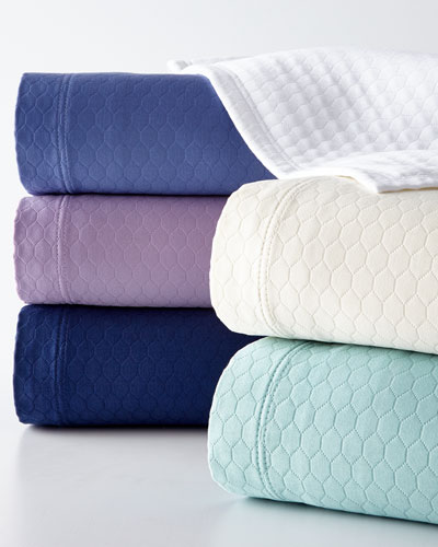 King Honeycomb Coverlet