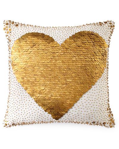 White Heart Pillow