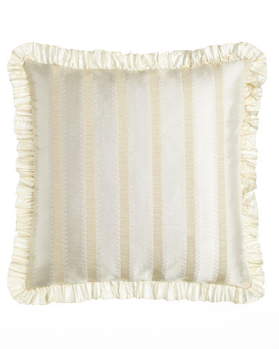 European Capello Striped Sham with Ruffle