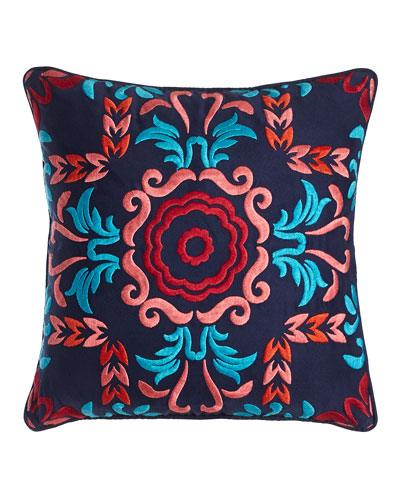 Embroidered Viva Mexico Pillow, 18