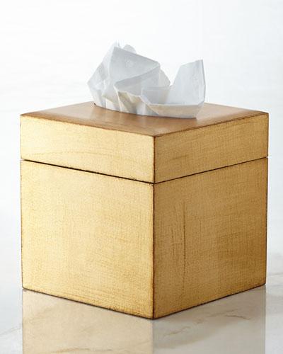 Gold Tissue Box Cover