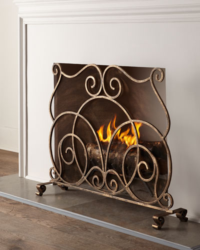 Iron Fireplace Screens iron fireplace screen   horchow
