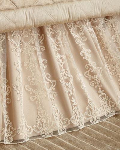 Queen/King Elizabeth Lace Dust Skirt