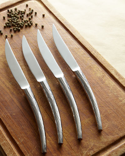 Stag Steak Knives, Set of 4