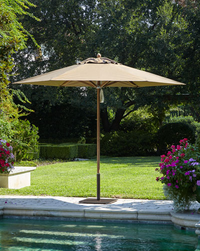 Taupe Standard Canopy Outdoor Market Umbrella