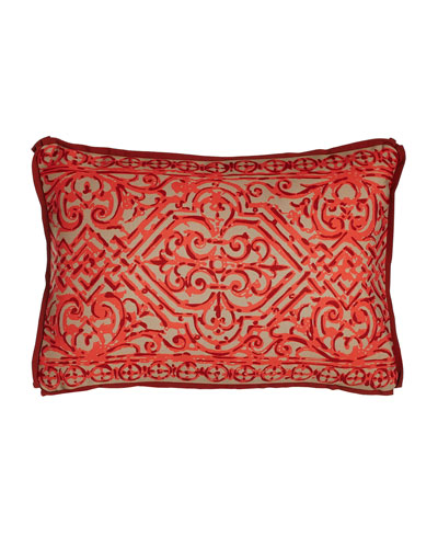 Melon Santos Outdoor Lumbar Pillow