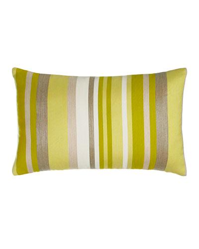 Citrine Stripe Outdoor Lumbar Pillow