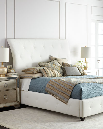 Patrizio King Leather Bed