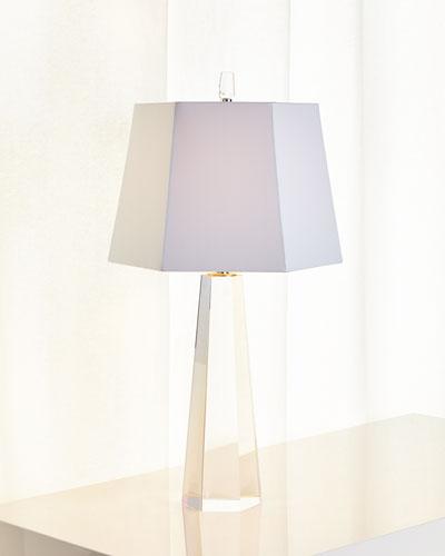 White Hexagon Crystal Table Lamp